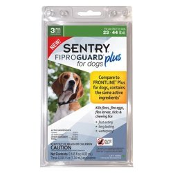 Sentry Fiproguard Plus Flea And Tick Topcial For Dogs 23-44 Lbs 3 Month Supply