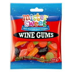 Mister Sweet Candy Wine Gums 125 G