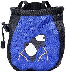 AMC Tm Rock Climbing Panda Bear Chalk Bag W Drawstring 337_BLUE