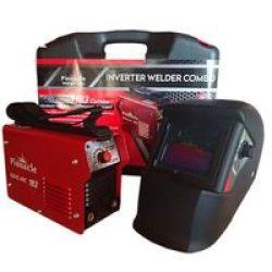 Pinnacle Welding & Safety Pinnacle Gene Arc 183 Welding Machine - 200 Amp Welder Auto Welding Helmet & Carry Case