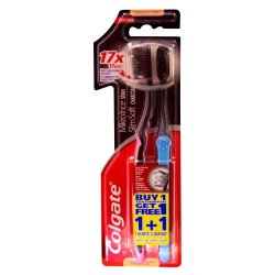 Colgate - Slim Soft Charcoal Twin Pack Toothbrush