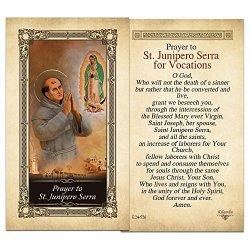 ShopCatholic St. Junipero Serra Laminated Holy Card - Pack Of 25