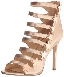 Katy Perry Women's The Stella Heeled Sandal Rose Gold 8 Medium Us