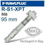RawlPlug Throughbolt M8X95X30MM 4 -bag