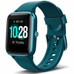 ANBES Health And Fitness Smartwatch With Heart Rate Monitor Smart Watch For Home Fitness Tracking Yoga Exercise Bike Treadmill Running Compatible With Iphone And