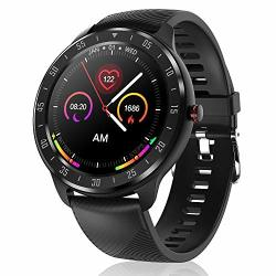 CanMixs Smart Watch For Android Ios Phones 1.3 Touch Screen Bluetooth Fitness Tracker Watches For Men Women IP67 Waterproof Activity Tracker With Heart Rate