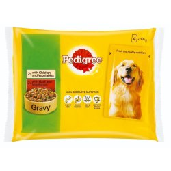 Pedigree - Dog Food Gravy 4 X 100G Chicken & Beef