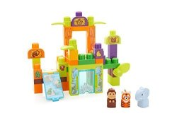Mattel Mega Bloks Storytelling Safari Friends Zoo Building Set