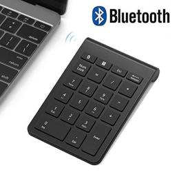 Bluetooth Number Pad Wireless Numeric Keypad Acedada Slim Portable 28-KEYS : Financial Accounting Data Entry External Numpad 10