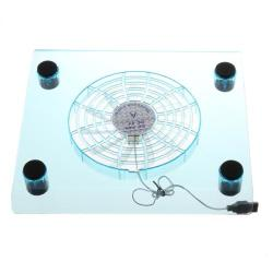 Cool Transparent USB2.0 Notebook Pad With LED And Fan Cooler Cooling