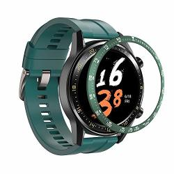 Dkenjoy Stainless Steel Bezel Ring Adhesive Cover Anti Scratch Dial Protector Compatible For Huami Amazfit Gtr 47MM Smartwatch Green