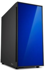 Sharkoon AM5 Window Atx Tower PC Gaming Case Blue With Side Window