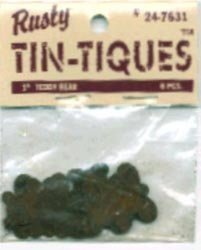 """Rusty Tin-tiques 24-7631 - 1"""" Teddy Bear - 6 Pieces pkg - Six Packages Total 36"""
