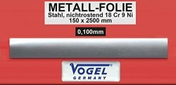 VOGEL-GERMANY Thickness Gauge Foil 0 500X150X2500 Mm Made Of Stainless Steel In A Box