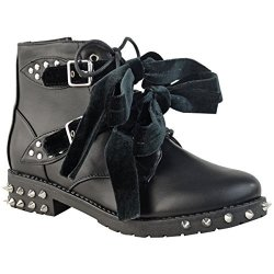 Fashion Thirsty Womens Studded Buckle Ankle Boots Chelsea Biker Punk Strappy Size