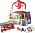 Doms Smart Kit - Drawing Book Water Colour Pen Min 25 Oil Pastel 16 Wax Crayons Groove Triangle Pencil Pack 12 Aqua Water Colour