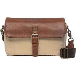 Ona - The Bowery - Camera Messenger Bag - 50 50 Natural Waxed Canvas & Antique Cognac Leather ONA5-014NTL