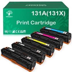 GREENSKY Compatible Toner Cartridge Replacement For Hp 131A 131X CF210X CF211A CF212A CF213A Laserjet Pro 200 Color M251N Color M276N M251NW M276NW Black Cyan