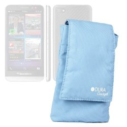 Duragadget Blue Cushioned Cell Phone Case With Belt Loop Compatible With The New Blackberry Z30 Blackberry Z10 Blackberry Curve