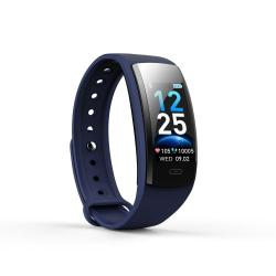 QS90 Plus 0.96 Inches Tft Color Screen Smart Bracelet IP67 Waterproof Support Call Reminder heart Rate Monitoring sleep Monitoring sedentary Reminder Blue