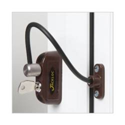 Jackloc Window Restrictor Brown
