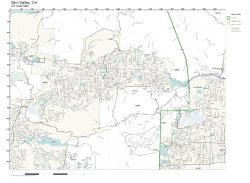 Working Maps Zip Code Wall Map Of Simi Valley Ca Zip Code Map Not Laminated