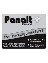 Erotic Love Toys Panalt Capsules Male Vitality Supplement