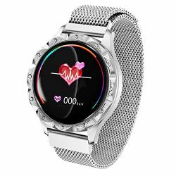 Women Smart Watch Fashion Round Color Screen Waterproof Bluetooth Bracelet With Heart Rate Physiological Period Reminder Sleep Monitor Pedometer Music Social Sharing Fitness Activity Tracker