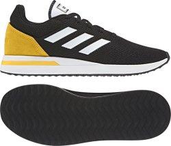 Adidas RUN70S Running Shoes in Black & Yellow