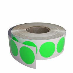 Royal Green Color Coding Sticker 3 4 Inch 19MM For Labeling And Inventory - Bright Neon Green Labels Dots In Rolls With Permanent Adhesive - 1050 Pack By
