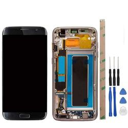 Hyyt For Samsung Galaxy S7 Edge G935F Lcd Digitizer Screen Replacement Lcd Display And Touch Screen With Frame Full Assembly Bla