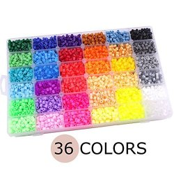 Baby Love Home 36 Color Hama Beads 12000PCS Perler Beads 5MM Fuse Beads 2  TEMPLATE+5 Iron PAPER+2 Tweezers Jigsaw Toy Christmas | R1790 00 | Baby  Care