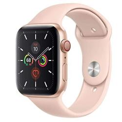 Apple Watch Series 5 Gps + Cellular - 44MM Gold Aluminum Case With Pink Sand Sport Band Renewed