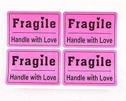 """Shenzhen Medevelop 200PCS 2X3"""" Purple Fragile Stickers Sign Shipping Mark Labels Handle With Care Labels"""