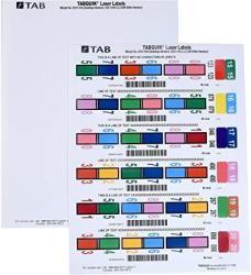 USA Tab Tabquik Full Tab Labels For Laser Printers 1 800 Per Pack