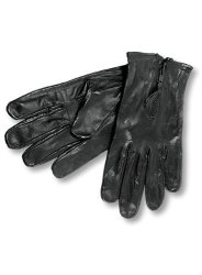 Black, Small Interstate Leather Mens Basic Driving Gloves