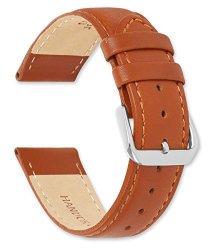 Debeer Coach Leather Watch Band - Havana 15MM