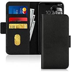FYY Iphone 11 Pro Case Cowhide Genuine Leather Rfid Blocking Flip Wallet Phone Case Cover Wi