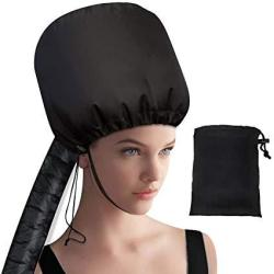 Hair Dryer Bonnet Hood - Collapsible Extra Large Adjustable Soft Bonnet Hair Dryer Attachment With Extra Long Hose For Drying St