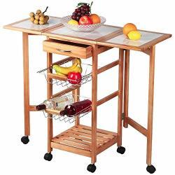 Rolling Wooden Kitchen Storage