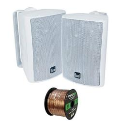 LU47PW Dual 3-Way Indoor//Outdoor Speakers White