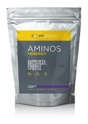 Purbolics Aminos + Energy Supports Recovery Energy & Focus 95MG Of Caffeine 0 Calories & 60 Servings The Grape Gatsby