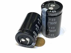 2 Pieces 8200UF 63V Ls 30X50MM Super Capacitor 63V8200UF Snap-in Psu A19
