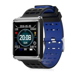 N98 Smart Watch IP67 Waterproof Support Blood Pressure Heart Rate Monitor Fitness Tracker Clock Smartwatch For Ios Android Black Blue Silicone
