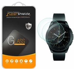 SUPERSHIELDZ 2-PACK For Samsung Galaxy Watch 42MM Tempered Glass Screen Protector Anti-scratch Bubble Free Lifetime Replacement