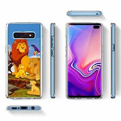 "Disney Collection Cell Phone Case Compatible For Samsung Galaxy S10+ 2019 6.4"" Lion King Mussa Saskatchewan Dinant Nana"