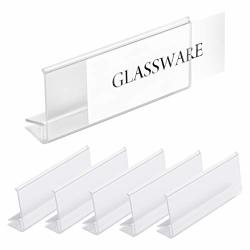 """Pack Of 25 - Clear Plastic Glass Shelf Label Holder Glass Shelf Sign And Ticket Holder Clips On To Shelves 3 16"""" To 1 4"""" Thick"""
