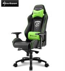 Sharkoon Skiller SGS3 Gaming Seat Black green Pvc Seat Cover Material   High Density Mould Shaping Foam Retail Box Textile Cover