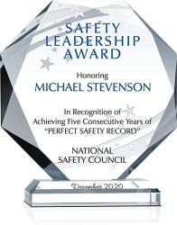 USA Custom Engrave Crystal Octagon Corporate Safety Recognition Award Plaque Personalized With Recipient And Award Name Unique Crystal Employee Safety A