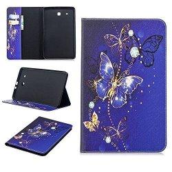 Samsung Galaxy Tab E 9.6 Case Angella-m Beautiful Pattern Premium Pu Leather Flip Folio Stand Case Cover Samsung Galaxy Tab E 9.